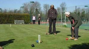 Golf croquet lawn